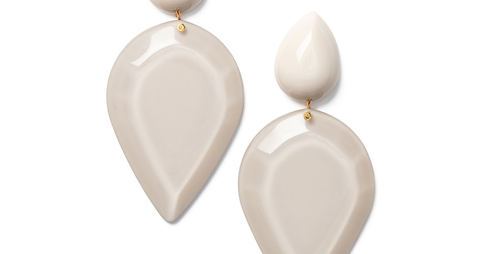 Iwaki earrings beige