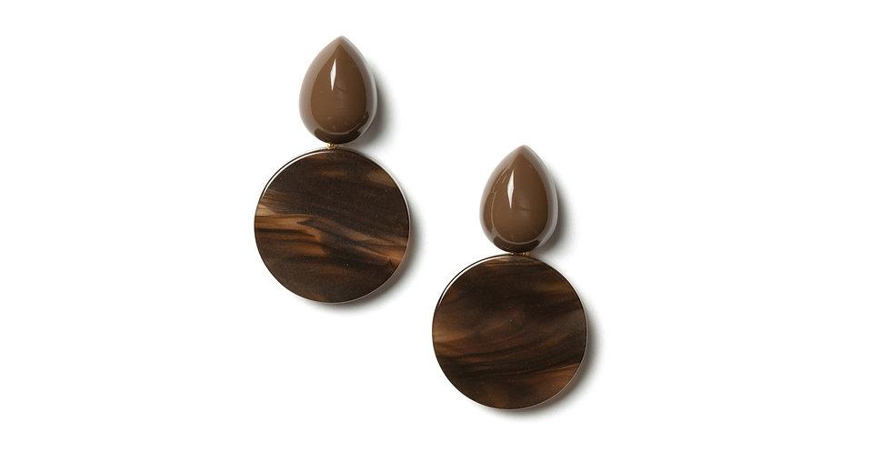 Walnut earrings brown