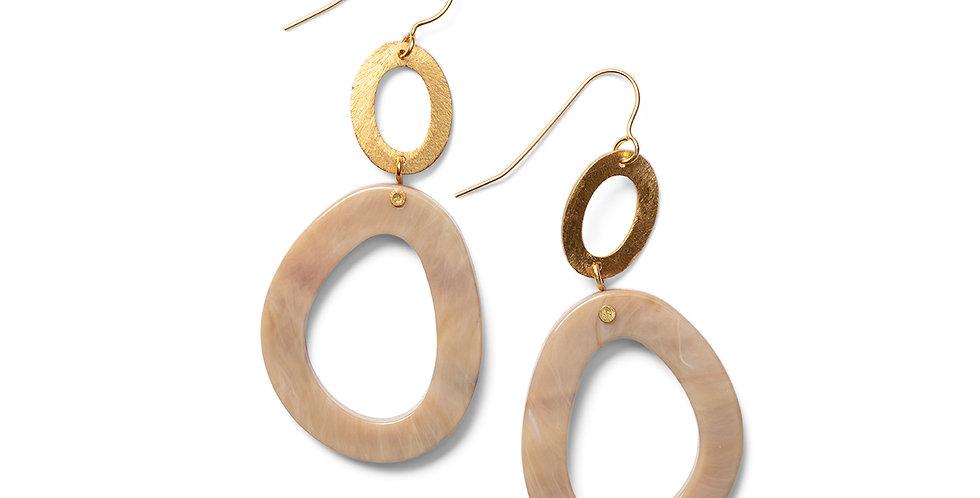 Panji earrings camel
