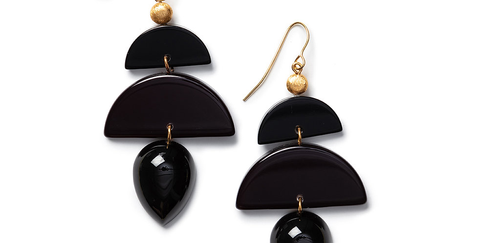 Same earrings black