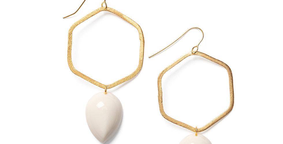 Tobu earrings beige