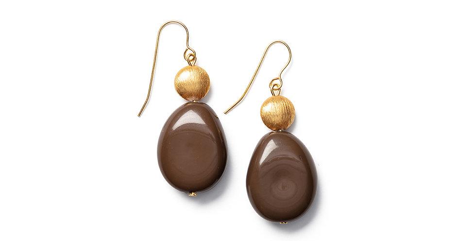 Saki earrings camel