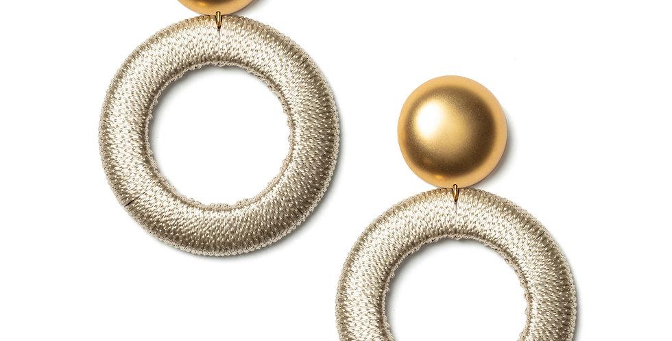 Twill earrings beige