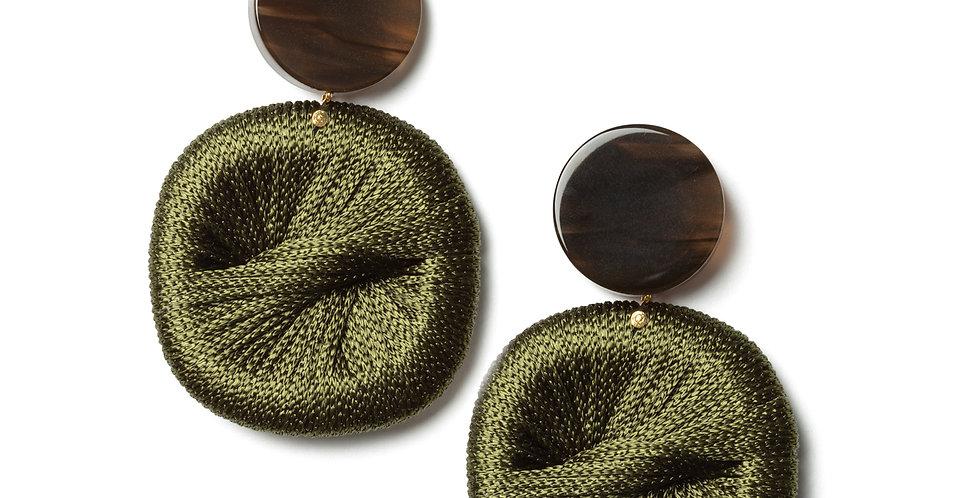 Pear earrings green