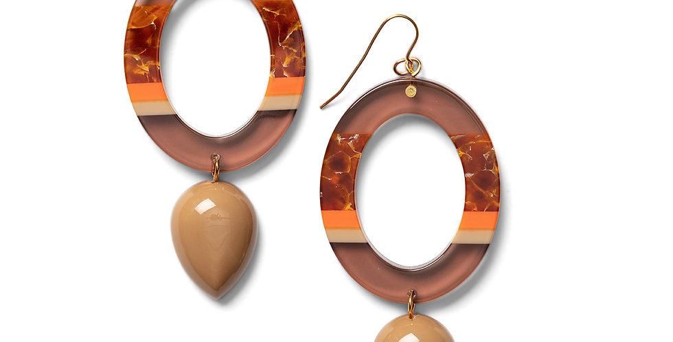 Nanao earrings camel