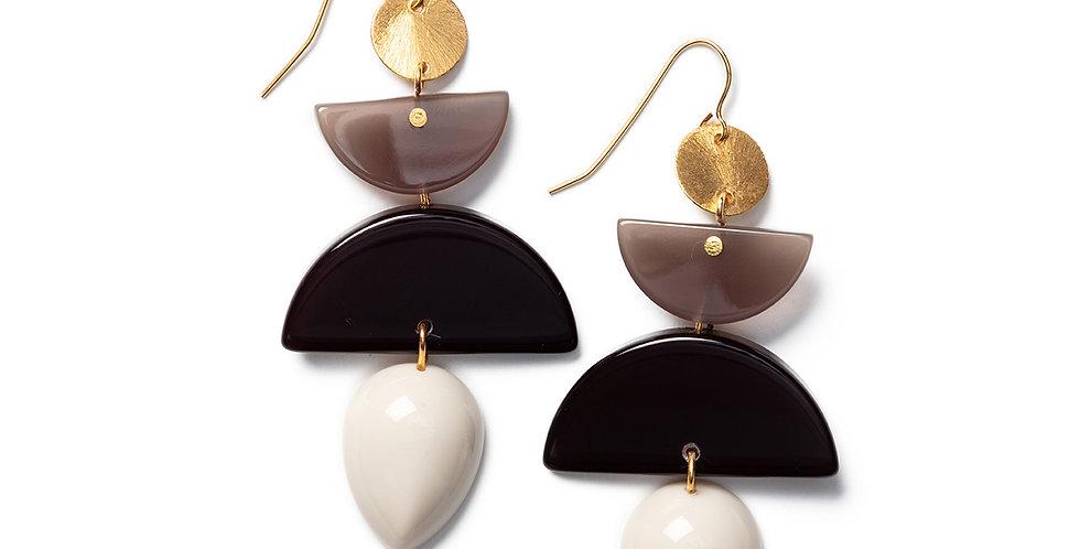 Ahiru Earrings beige