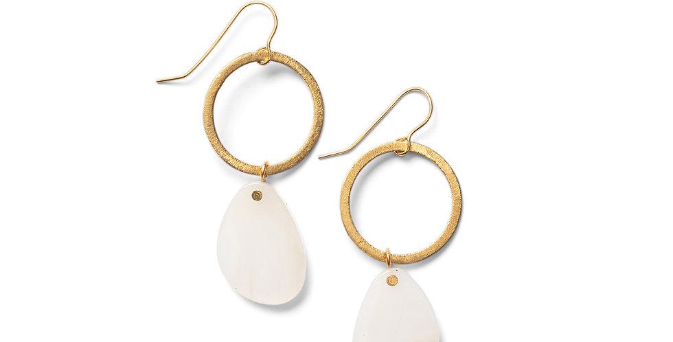 Sora earrings beige