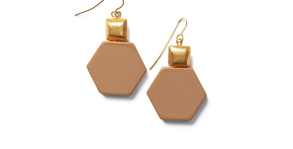 Tosa earrings camel
