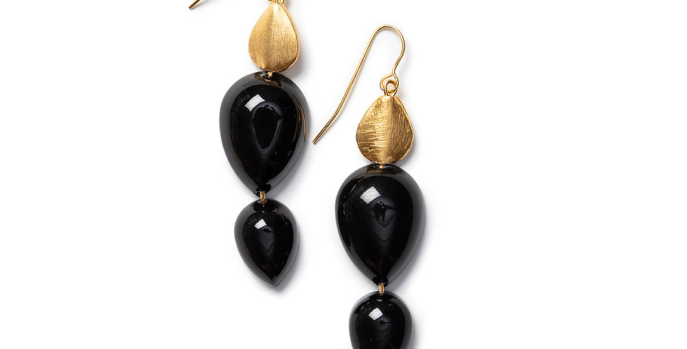 Goba earrings black