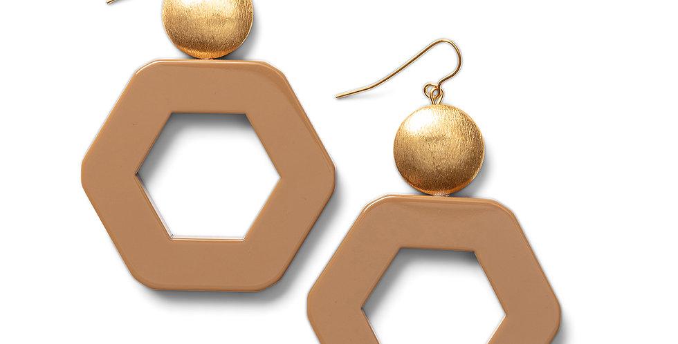 Izu earrings camel