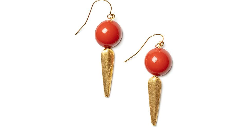 Sombra earrings coral
