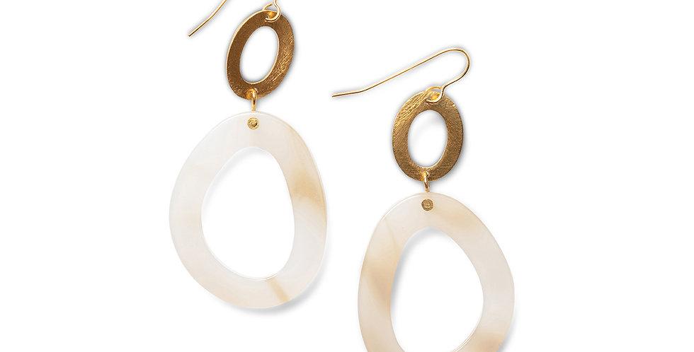 Panji earrings beige