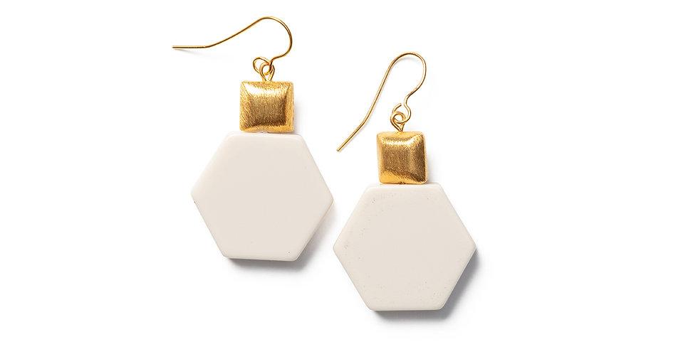 Tosa earrings beige