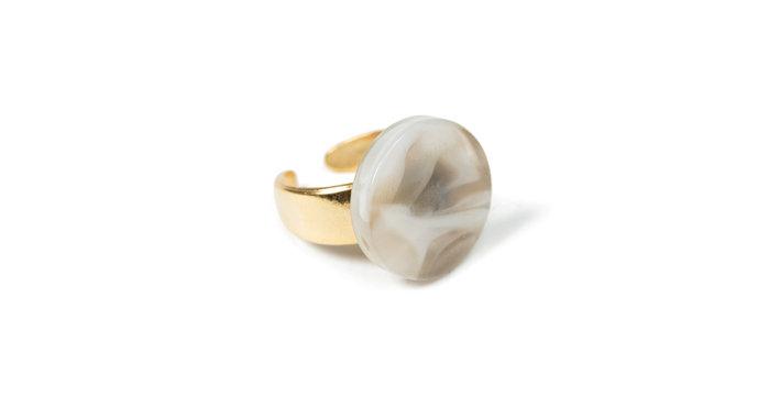 Cotton ring beige