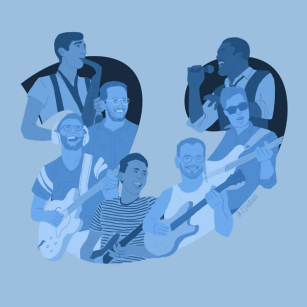 Ilustration of the band Vulfpeck
