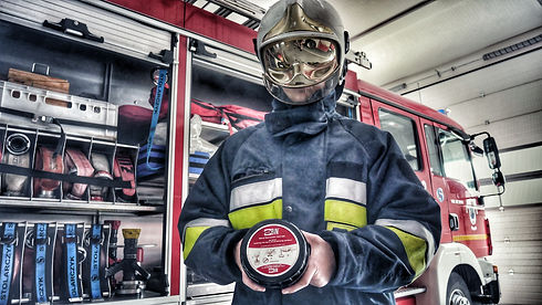 Pocket BVM used by firefighter for airway management