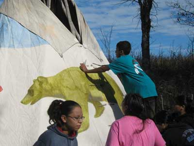 Painting tipi