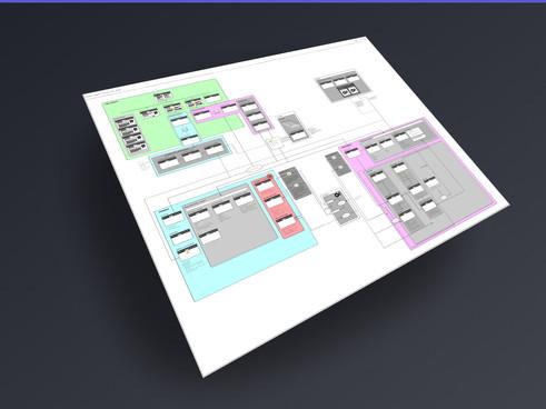 User interaction flow diagram