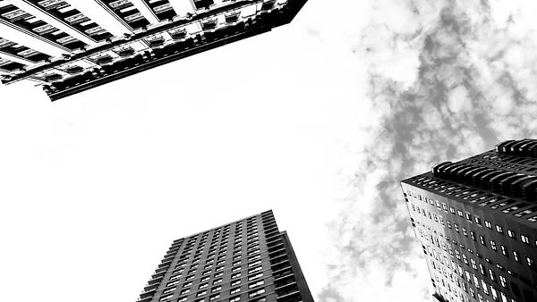 New-york Buildings black and white