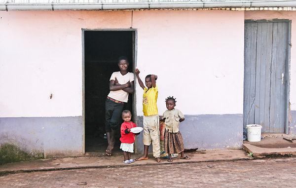 Cameroon kids black and white Cameroun