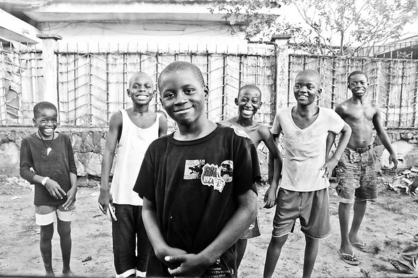Cameroon kids truck black and white Cameroun