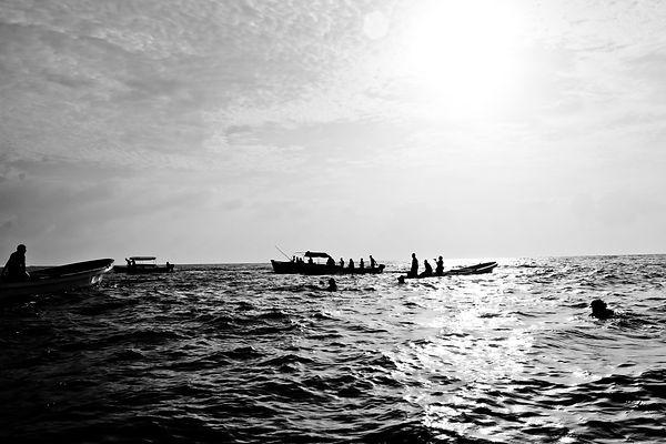 Zanzibar indian ocean black and white