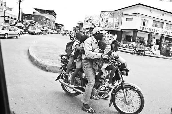 Cameroon kids daddy moto black and white Cameroun