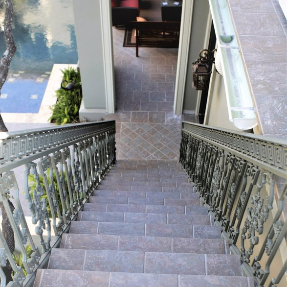 Cox Tile Pool Stairs 11
