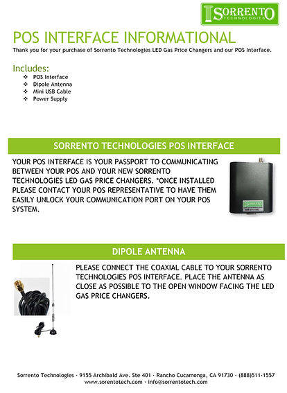 POS integration kit from Sorrento Tech