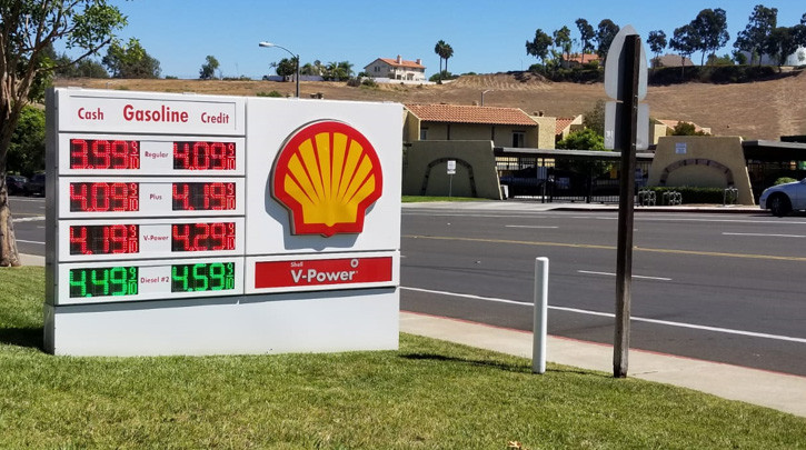 Gas Prices San Diego >> San Diego Shell