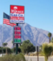 LED Gas Price sign install in Borrego Springs, CA