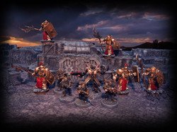 Centre Models by Wargame Exclusive, other Models by Scibor Miniatures, Buildings and Terrain by Micr