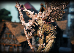 Model by Creature Caster, Buildings by Zealot Miniatures