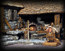 Sword by Nic's Miniatures, Dwarf by Avatars of War, Blacksmith by Zealot Miniatures