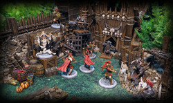 Models by Megalith Games and Avatars of War, Terrain by Printable Scenery and Zealot Miniatures