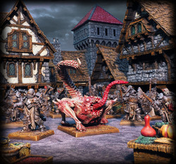 Models by Avatars of War, Buildings by Zealot Miniatures