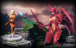 Megalith Games (left) and Creature Caster (right, chest has been censored)