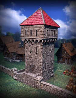 Buildings by Zealot Miniatures, Stone Fence by Skull Forge Scenics