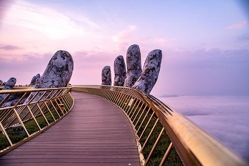 The Golden Bridge at Bana Hills,Da Nang,
