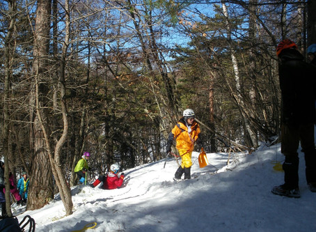 八ケ岳(富士見高原スキー場周辺) 雪上訓練