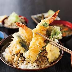 New! Shrimp Tempura over Sushi Rice (Don)