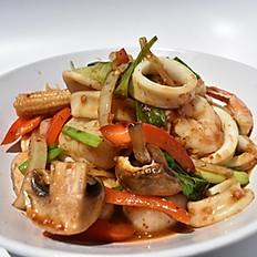 Stir Fry Roasted Chili Paste Seafood