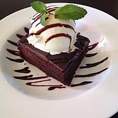 Double Fudge Brownie with Vanilla Ice Cream