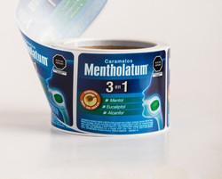 Etiqueta en rollo Mentholatum Ychiformas
