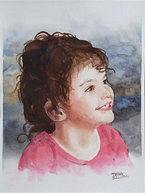 Hadlee Original Watercolor
