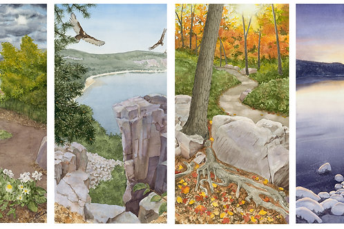 The Seasons of Devils Lake Winter (Original Watercolors)