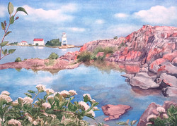 Grand Marais Watercolor Painting