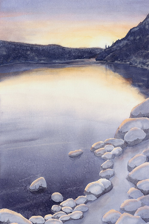 Devils Lake Winter (Limited Edition Giclée Print - Reduced Size)