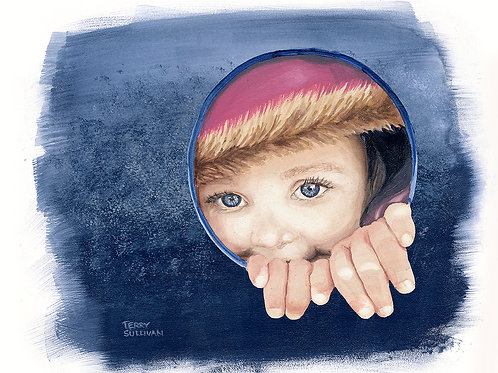 Cora Eyes Reduced Size Limited Edition Giclee Print