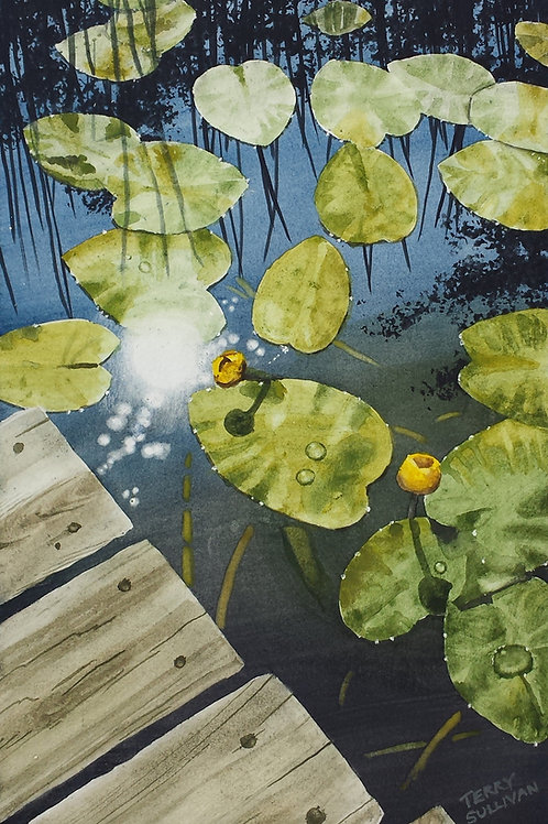 Port Wing Lily Pads (Original Watercolor)